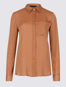 Plain Slim Fit Checked Chiffon Shirt pictures & photos