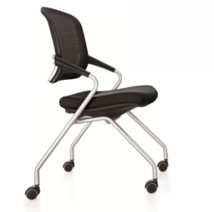 School Library Lab Office Wheels Mesh Folding Traning Chair (NS-5CH267) pictures & photos