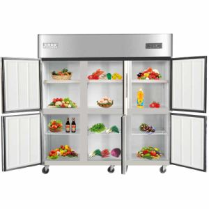 New Design Double Temperature Six Swing Doors Kitchen Refrigerator pictures & photos
