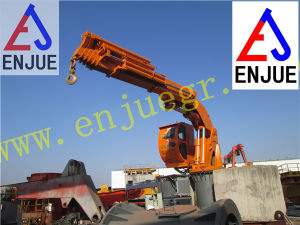 Hydraulic Offshore Pedestal Mounted Telescopic Boom Jib Deck Crane pictures & photos