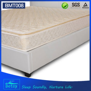OEM Resilient Pillow Top Mattress 24cm High with Resilient Foam Layer and Bonnell Spring pictures & photos