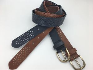 New Fashion PU Belt with Cut out Design for Ladies