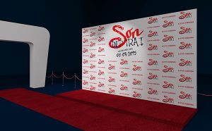 Custom Printed Fabric Backdrop Full Digital Printing Vinyl Stand Display Wall pictures & photos