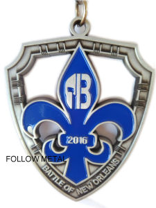 Medal for Battle of New Orleans, Soft Enamel, Antique Silver
