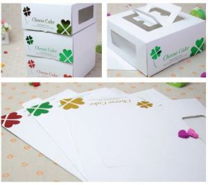 Custom Printed Paper Cake Packaging Box with Window pictures & photos
