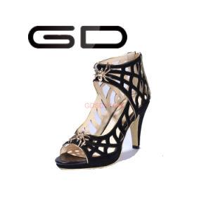 Zip Lock High Heel Women Sexy Black High Pumps Party High Heel Sandals for Girls pictures & photos