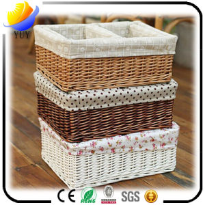 Wicker Basket Crafts Exquisite High-End Storage Box pictures & photos