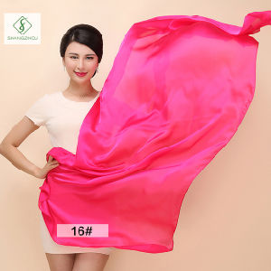 2017 New Design Lady Beach Towel Fashion Plain Silk Scarf pictures & photos