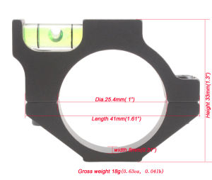 Wholesale Mini Round Aluminum 25mm 1 Inch Riflescope Mount Rings Scope Anti Cant Device Spirit Level Bubble Level Scope Level pictures & photos