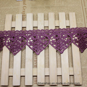 Embroidery Factories Stock Wholesale 8cm Width Embroidery Nylon Lace Polyester Trimming Fancy Lace for Garments Accessory & Home Textiles & Curtains pictures & photos
