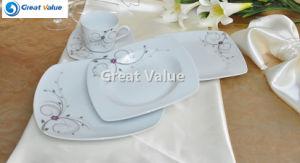 20PCS Wholesale Ceramic Square Dinnerware Set, White Porcelain Tea Set pictures & photos