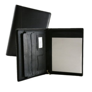 Leather Expandable Portfolio Tablet Case Document Holder File Folder pictures & photos