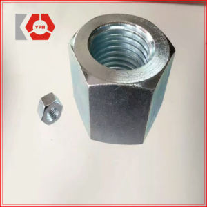 DIN6334 Hexagon Coupling Zinc Plated Nut pictures & photos