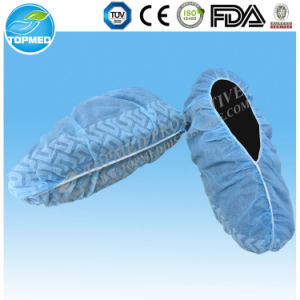Safety Disposable Nonwoven Medical Shoe Cover, PP Anti Slip Shoe Cover pictures & photos