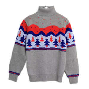 Children′s Warm Wool Knitting Pullover pictures & photos