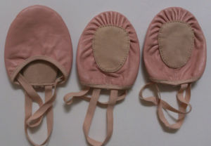 Sheepskin Leather Dance Practice Half Shoes pictures & photos