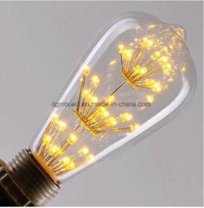 ST64 LED lighting new fashion retro starry LED bulb pictures & photos
