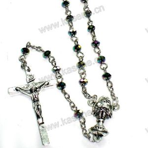 Colorful 4mm Flat Colourful Crystal Beads Religious Rosary