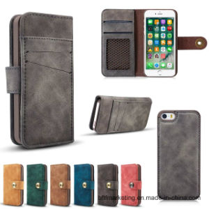 New Arrival 2in1 Manetic Detachable Leather Wallet Case for iPhone pictures & photos
