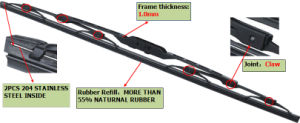 Car Replacement Frame Wiper Blade, Car Wiper Rain Sensor, Wiper Motor pictures & photos