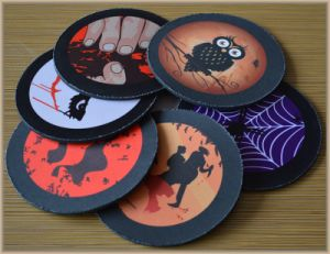 Rubber Mouse Pad Drink Coaster for Halloween Gift & Advertising pictures & photos