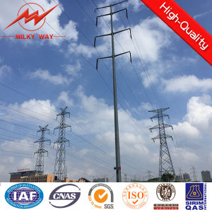 Galvanizaed Octagonal Transmission Line Steel Pole pictures & photos