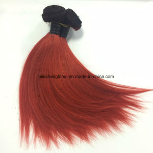 Brazilian Human Hair Unprocessed Virgin Hair Ombre Red Straight pictures & photos