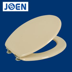 Beige MDF Toilet Seat, Bone MDF Mould Wood Toilet Seat Cover pictures & photos