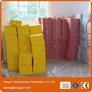 Synthetic Needle Punched Nonwoven Fabric Cleaning Cloth pictures & photos