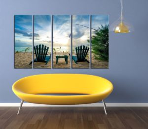 Home Decor Hotel Wall Art DIY Modern Handmade 5 Panel Abstract Canvas Oil Painting pictures & photos