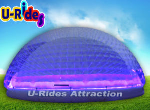 Big Transparent Camping Inflatable Bubble LED Tent Purple Inflatable Party Dome pictures & photos