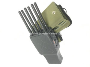 2016 Latest 6 Antenna Portable Cellphone Jammer Wireless GPS WiFi Signal Jammer with Nylon Case pictures & photos