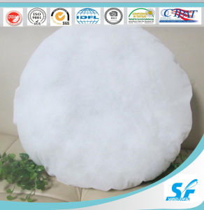 Polyester Round Cushion Insert Hollow Fiber Filled Pillow pictures & photos