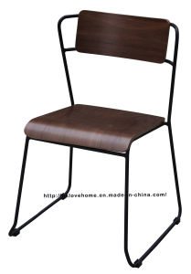 Modern Metal Furniture Wooden Side Restaurant Chair pictures & photos