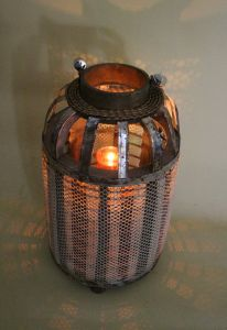 The Gauze Bottle Shaped Wild Industrial Style Candle Lantern pictures & photos
