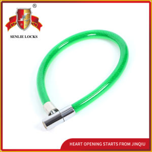 Jq8215 Two Colors Safety Bicycle Lock Motorcycle Steel Cable Lock pictures & photos