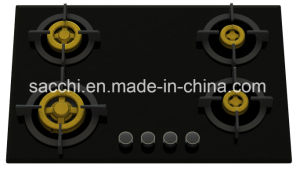 Supreme Four Brass Burner Gas Hob (8mm Glass New)