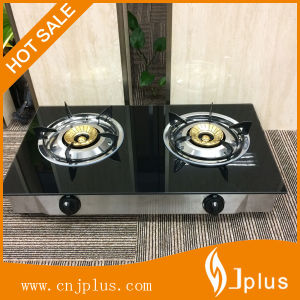 Two Burner Brass Cap Glass Top Gas Stove Jp-Gcg207s pictures & photos