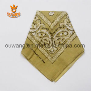 Ouwang Factory Custom Large Hankerchief Cotton Bandana pictures & photos