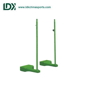 Movable Badminton Post Pole with Double Wheels pictures & photos