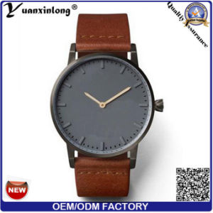 Yxl-093 New Arrival High Quality Custom Logo OEM/ODM Men Leather Watch Charming Vogue Promotional Luxury Quartz Watches pictures & photos