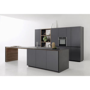 Wholesale Newly Design Gray Matte Lacquer Wooden Kitchen Cabinet pictures & photos