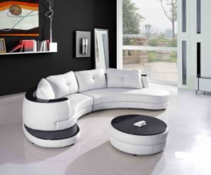 Modern Living Room Furniture Leather Sofa with Sectional L Shape pictures & photos