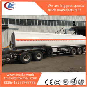 4axles Stainless Steel Fuel Tank 40000liters Oil Trailer Fuel Tank pictures & photos