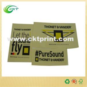 Custom Metallic Gold Label Printing with Matt Lamination (CKT-LA-455) pictures & photos