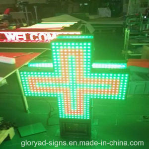 Flashing LED Cross Sign LED Pharmacy Display Sign pictures & photos