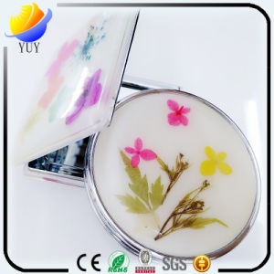 Top-Grade Metal Folding Portable Make-up Reversible Cosmetic Mirror pictures & photos