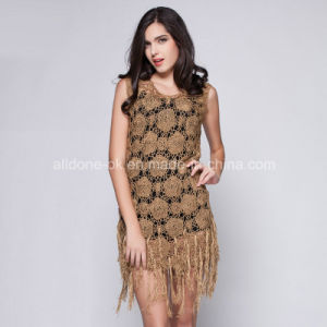 Ladies Girls Tassel Ice Silk Crochet Dresses Hand Handmade Croche pictures & photos