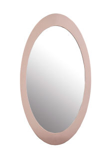 Oval Shape Stainless Steel Silver Glass Mirror pictures & photos