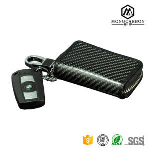 Luxury Nice Design Real Carbon Fiber Metal Key Car Key Bag Holder for Promotiion Wholesale pictures & photos
